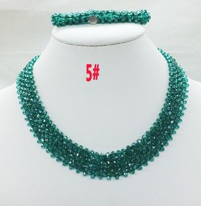 Новая цена-Африка, Нигерия, самый популярный ювелирный набор с кристаллами для невесты - Окраска металла: 5