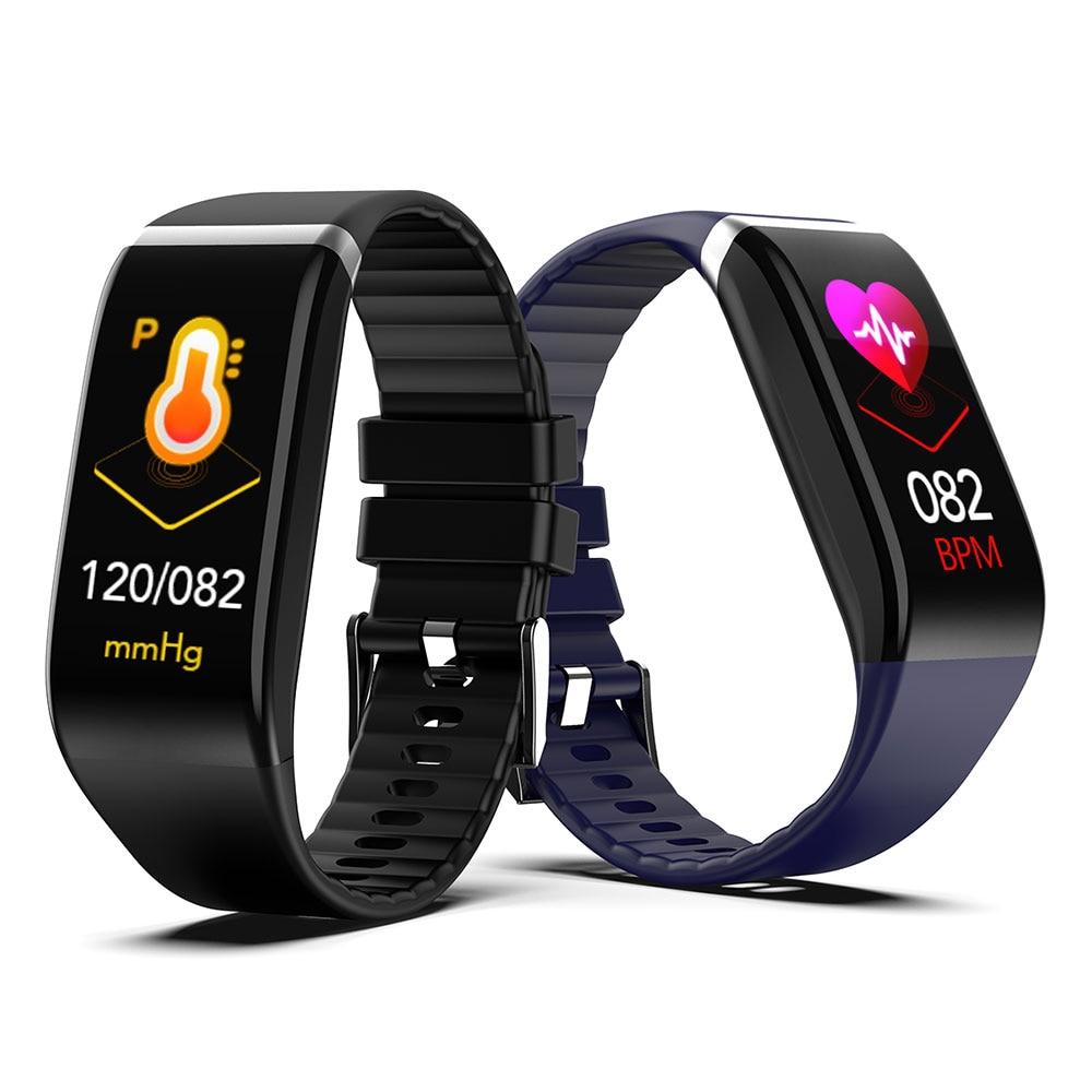 H7844c12d18c2403f9d015aa45241e0c6n Smart Band Blood Pressure 1.14'' Screen Fitness Tracker Watch Heart Rate Fitness Bracelet Waterproof Music Control For Men Women