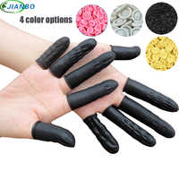 100pcs Latex Finger Cots Manicure Work Gloves Anti-slip Antistatic Latex Fingertip Fingers Protection Disposable Rubber Covers