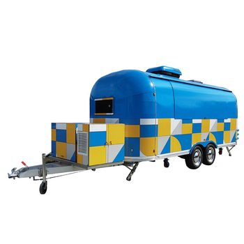 custom blue food truck mobile food trailer Custom Blue Food Truck Mobile Food Trailer