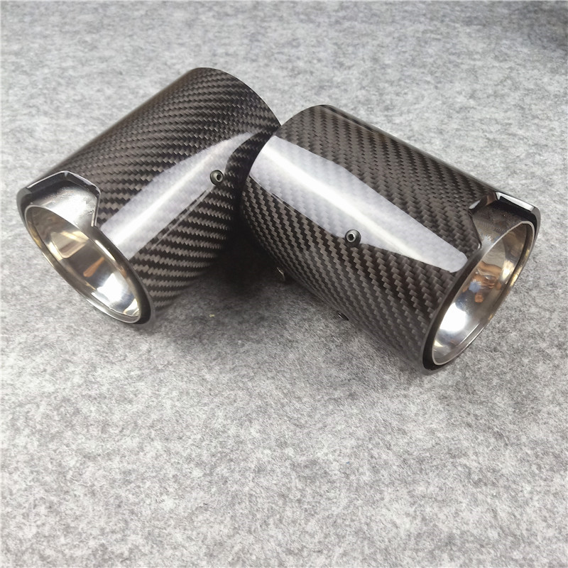 Real Carbon Fiber Exhaust tip For M Performance exhaust pipe M2 F87 M3 F80 M4 F82 F83 M5 F10 M6 F12 F13 X5M X6M