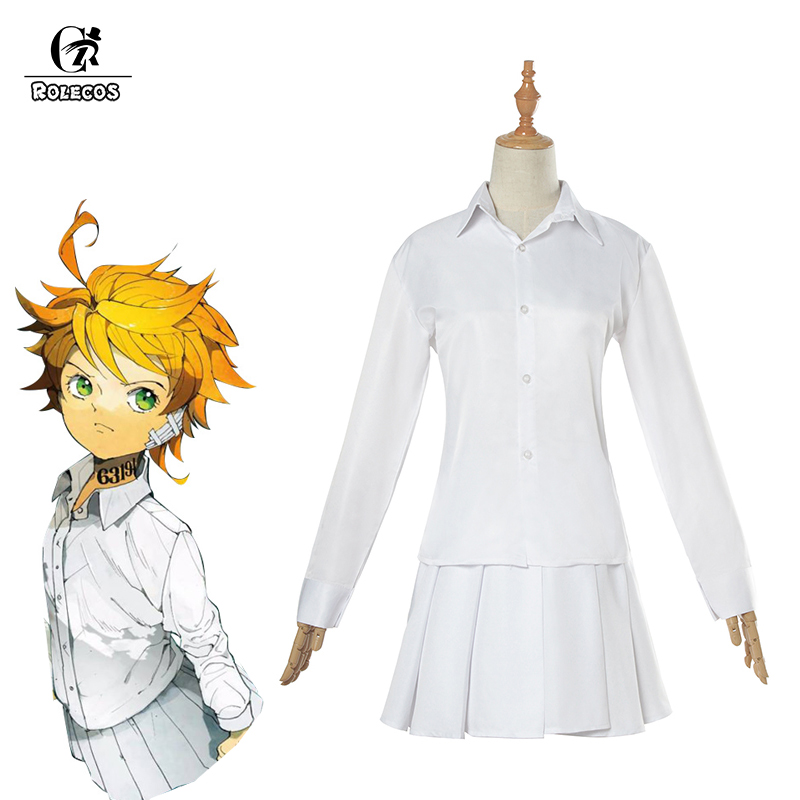 ROLECOS Anime The Promised Neverland Emma Cosplay Costume Yakusoku No Neverland Cosplay Costume Girl School Uniform For Women