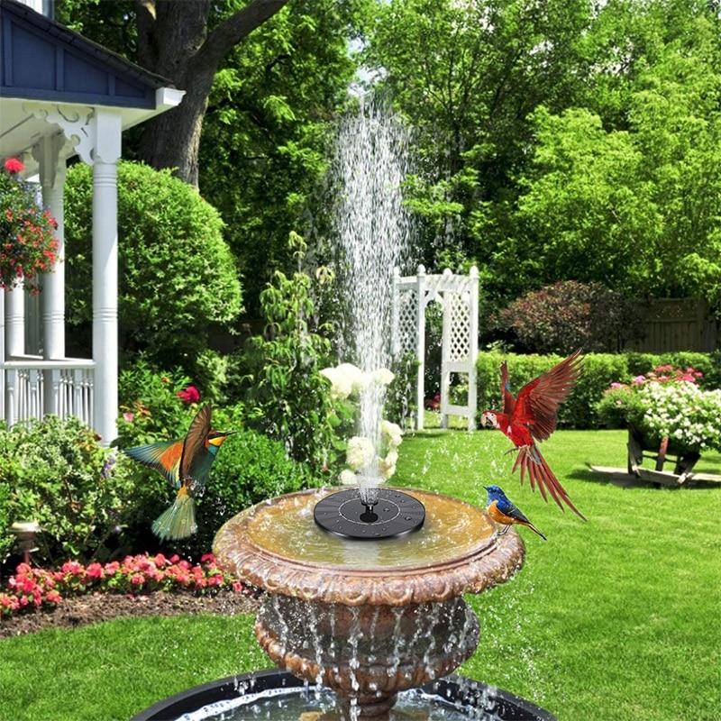 Садовый фонтан на солнечной батарее, питание от солнечной панели, с птицами, для ванной, для улицы, сада, внутреннего дворика, украшение для л...