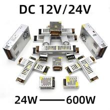 Ultra-Dünne Spannung Konverter 220V Zu 12V/24V Transformator 24W 36W 48W 60W 100W 200W 300W 600W Universal LED TV Treiber Bord