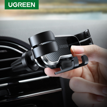 UGREEN Gravity Car Phone Holder For Phone in Car Air Vent Clip Mount Mobile Phone Holder GPS Stand For Xiaomi iPhone XS MAX