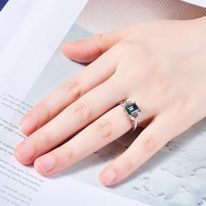 Image 5 - קישט עם קריסטל סברובסקי אישיות ירוק אבן קריסטל פרפר טבעות Anillos Mujer Ajustable גודל המפלגה טבעת