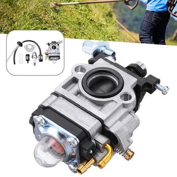 Carburetor Kit For Brushcutter Carburetor Gasket Fuel Filter Rebuild Repair Kit Brushcutter Parts Suitable For 52ccm And 49ccm 5pcs petrol snap in primer bulb fuel for chainsaws blowers trimmer carburetor
