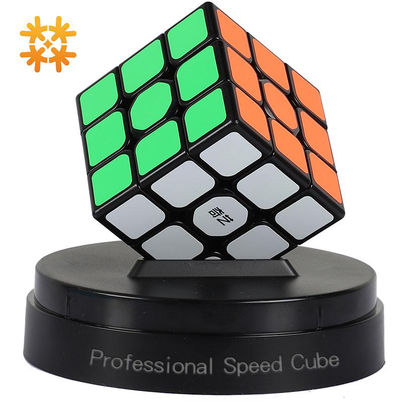 Qiyi 3*3*3 Professionelle Magische Würfel Geschwindigkeit Rätsel Magie Würfel Drei Schichten Cube Puzzle Spielzeug Für Kinder zappeln Spielzeug Für Erwachsene