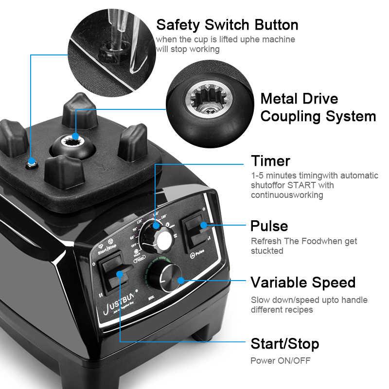 Timer BPA Libero 3HP 2200W Commerciale Blender Mixer Spremiagrumi Potere Robot da Cucina Frullato Bar Frutta Frullatore Elettrico