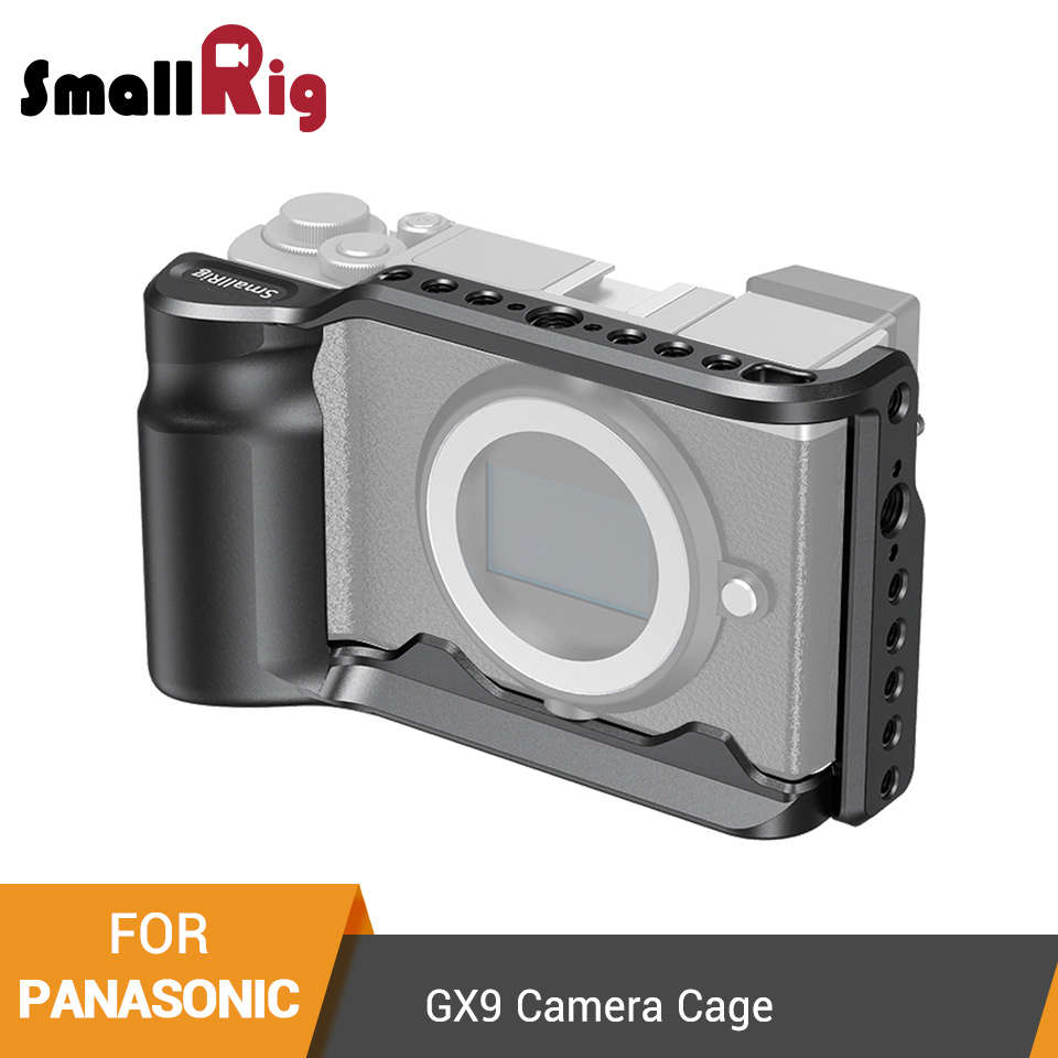 aluminum alloy SmallRig G9 Aluminum Alloy Cage for Panasonic G9 Cage With Arca Swiss Plate/Integreted Side Handgrip/NATO Rail-2411 (1)
