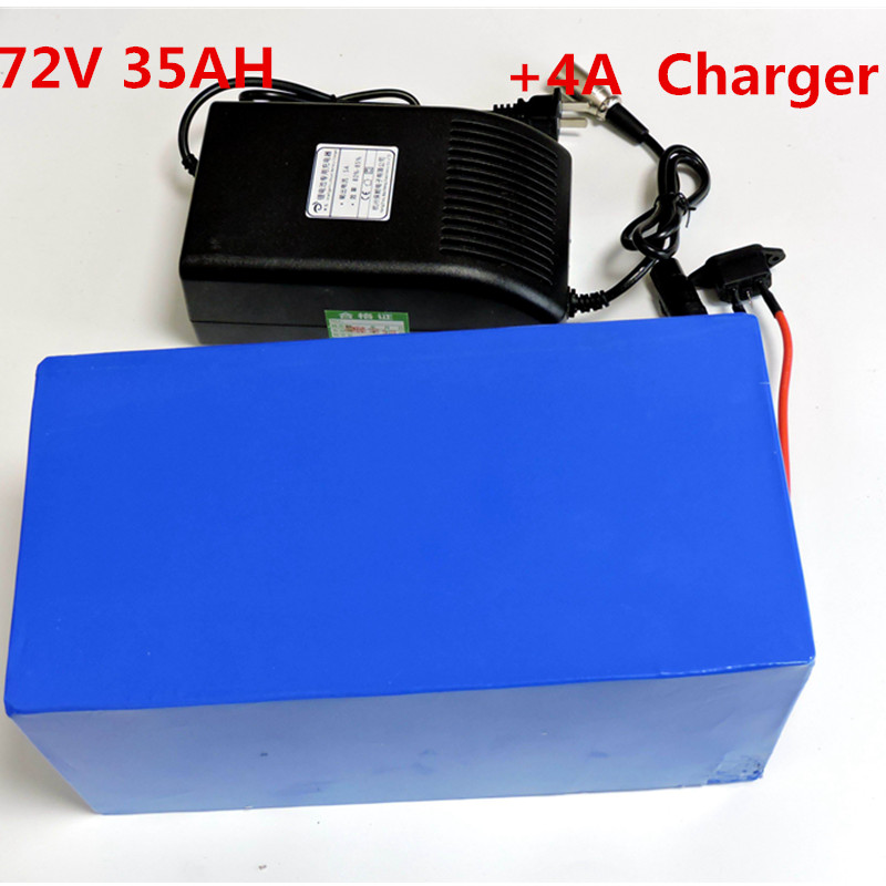 72V 35ah E bike tricycle motorcycle 72V <font><b>Electric</b></font> <font><b>Bicycle</b></font> Battery Lithium Pack 72V 3000W <font><b>5000W</b></font> with 4A charger image