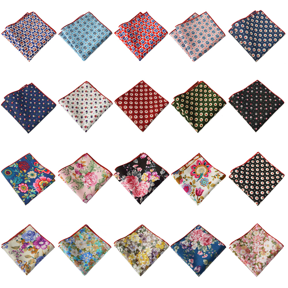 Mens Colorful Floral Printed Handkerchief Hanky Party Wedding Pocket Square