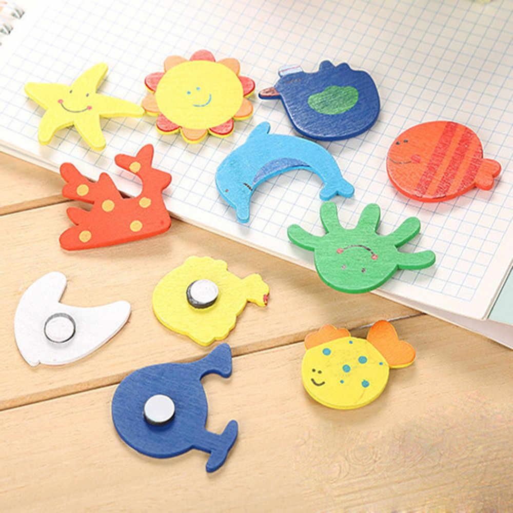 12 шт. магниты на холодильник милый деревянный многоцветный для ребенка любовь Магнит на Холодильник кнопка стикер сообщений Magn домашний декор для кухни 88