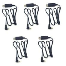 5Pcs Usb Charger Cable Met Voor Baofeng BL 5 UV5RE UV 5R 3800Mah Verleng Batterij UVB2 BF UVB3 Plus UV S9 Radio