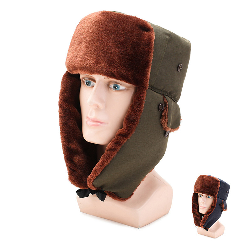 Outdoor-Hat Ushanka Sub-Men's Winter Thick Warm Plus Cycling Velvet Youth Wind-Resistant