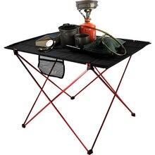 Стол складной-стол для пикника Открытый Кемпинг 6061 ультра-светильник из алюминиевого сплава Лидер продаж