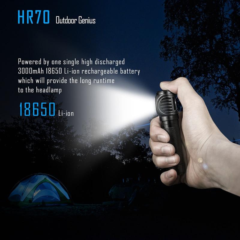 Image 5 - IMALENT HR70 مصباح ليد جيب كري XHP70. كشافات 3000lm قابلة للشحن المصباح مع بطارية 18650 3000mAh + كابل شحن USBrechargeable headlightheadlight rechargeableheadlights headlight -