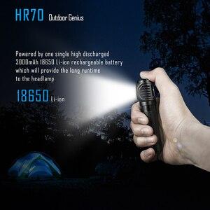 Image 5 - Imalent hr70 led 손전등 cree xhp70. 18650 3000 mah 배터리 + usb 충전 케이블로 헤드 램프 3000lm 충전식 헤드 라이트