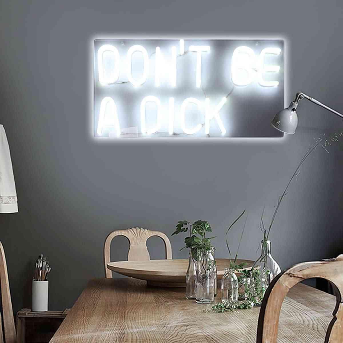 Yok Bir Dick LED Neon Sanat Burcu Görsel Yapıt Ev Yurt Parti bar LED ışığı Tüp Neon Lambası Duvar Dekor noel Aydınlatma