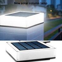 Impermeable LED Solar Faro de pilar al aire libre columna La noche luz impermeable de energía Solar valla de jardín paisaje lámpara