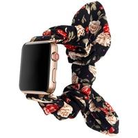 44mm 40mm Elastische Schleife Band Für Apple Uhr 6 SE 5 Strap Scrunchie Stoff Armband Frauen Armband für iWatch 6 5 4 3 38MM 42mm