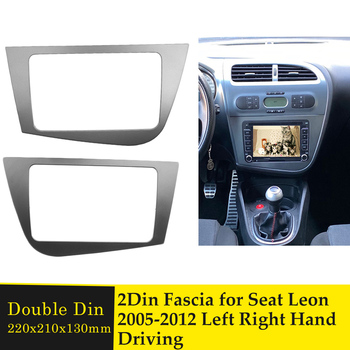 Left Right Hand Driving Double Din Radio Frame Fascia for Seat Leon 2005-2012 Car DVD GPS Stereo Panel Dash Bezel Mount Trim Kit image