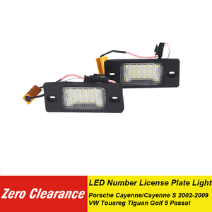 Zeroclearance Canbus LED Number License Plate Lights For Porsche Cayenne White Error Free For VW Touareg Tiguan Golf 5 Passat