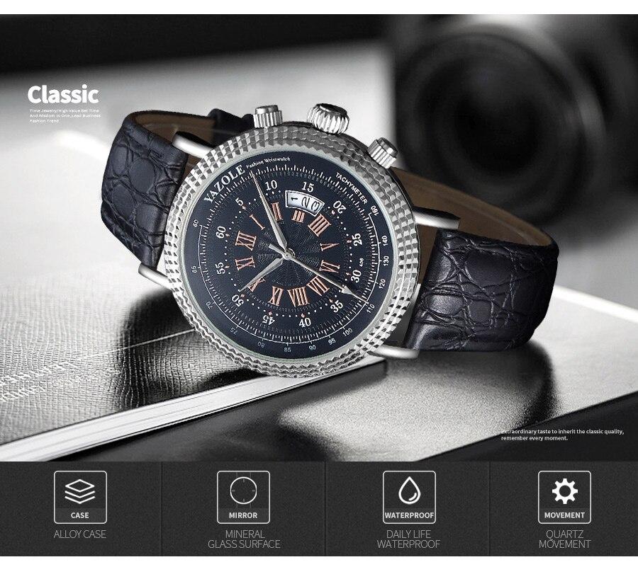 H78465d4ce2ae4c36a1f44e0985ae7cfc0 Luxury Business Men's Watches relogio masculino PU Leather Strap Hiqh Quality Dress Watch Men Classic Casual Quartz Male Clock