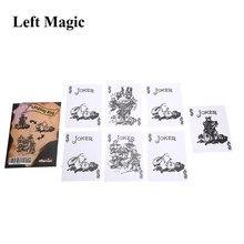 A piada do rei truques de magia rei desaparecer cartão adereços de magia perto de rua adereços de magia ilusões truque prop mentalismo