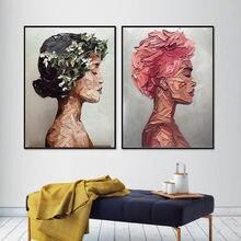 Портрет красно коричневой женщины Картина маслом искусство холст
