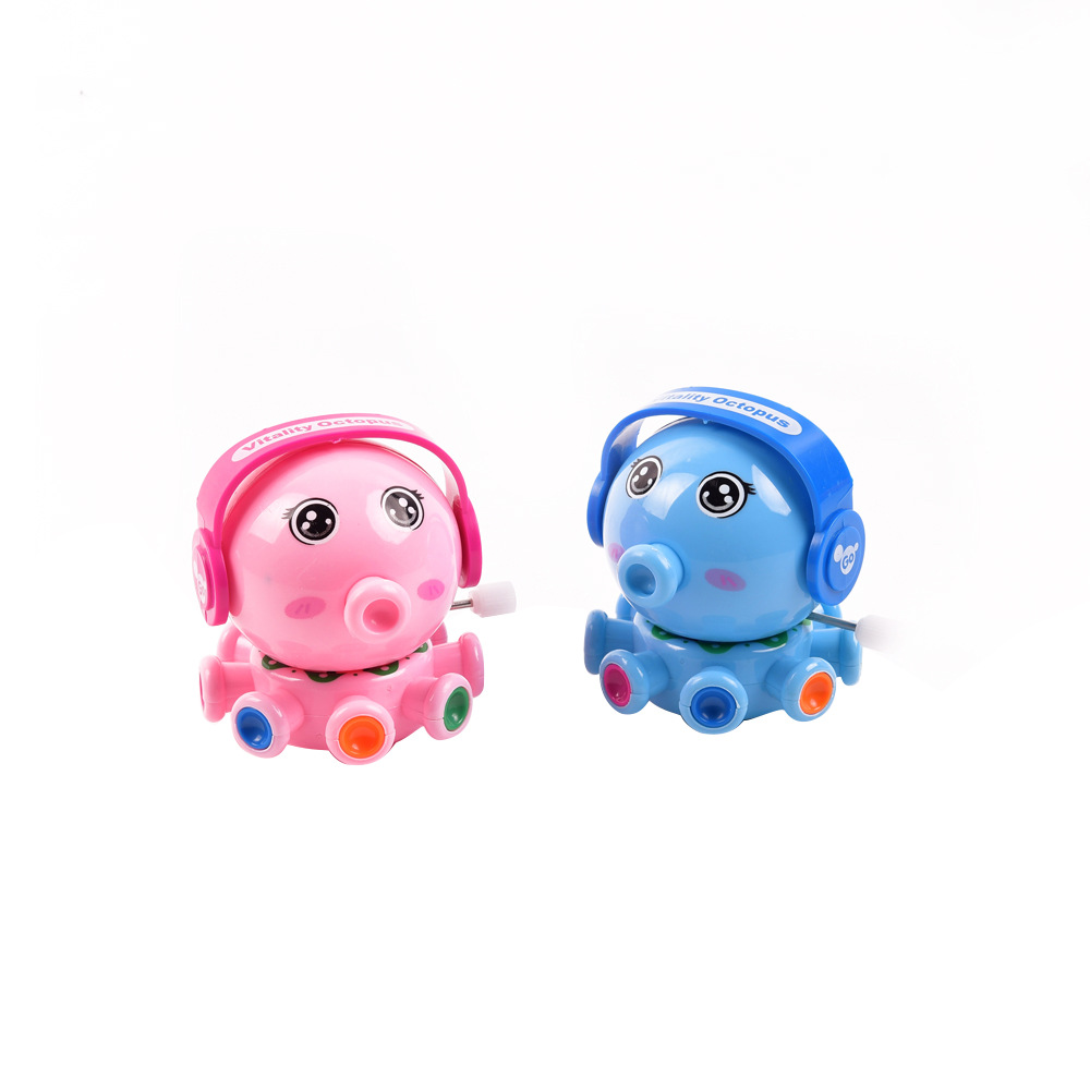 Winding Small Octopus Spring Small Toy Rotating Fun Toot Small Octopus Winding Octopus Toy