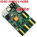 HUIDU HD2018 HD2020 HD-E63 8 * HUB12 & 4 * HUB08 1024*128 512*128 P10 один Цвет светодиодный Дисплей карты
