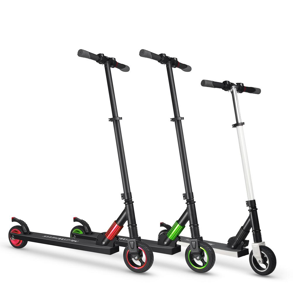 US Double-wheel Household <font><b>Electric</b></font> <font><b>Scooter</b></font> <font><b>250W</b></font> DC29.4V 2A Portable Rails Folding <font><b>Scooter</b></font> 8-12km 23km/h Battery Adult Unisex image