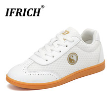 Chinese Wushu Shoes Men Women Park Square Tai Chi Shoes Sneakers Boys Martial Arts Mesh Adult Kung Fu Flats Shoes Boxing Shoes(China)
