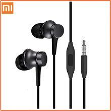 Oryginalny Xiaomi tłok 3 słuchawki Bass przewodowy 3.5MM w-ucho sportowe słuchawki z mikrofonem zestaw słuchawkowy do telefonu Xiaomi Samsung Huawei