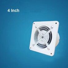 4 дюйма рядный канальный вентилятор аэрационный проем металлическая труба вентиляции вытяжной вентилятор мини-экстрактор вентилятор для ванной комнаты туалета стенной вентилятор 100 мм 220V