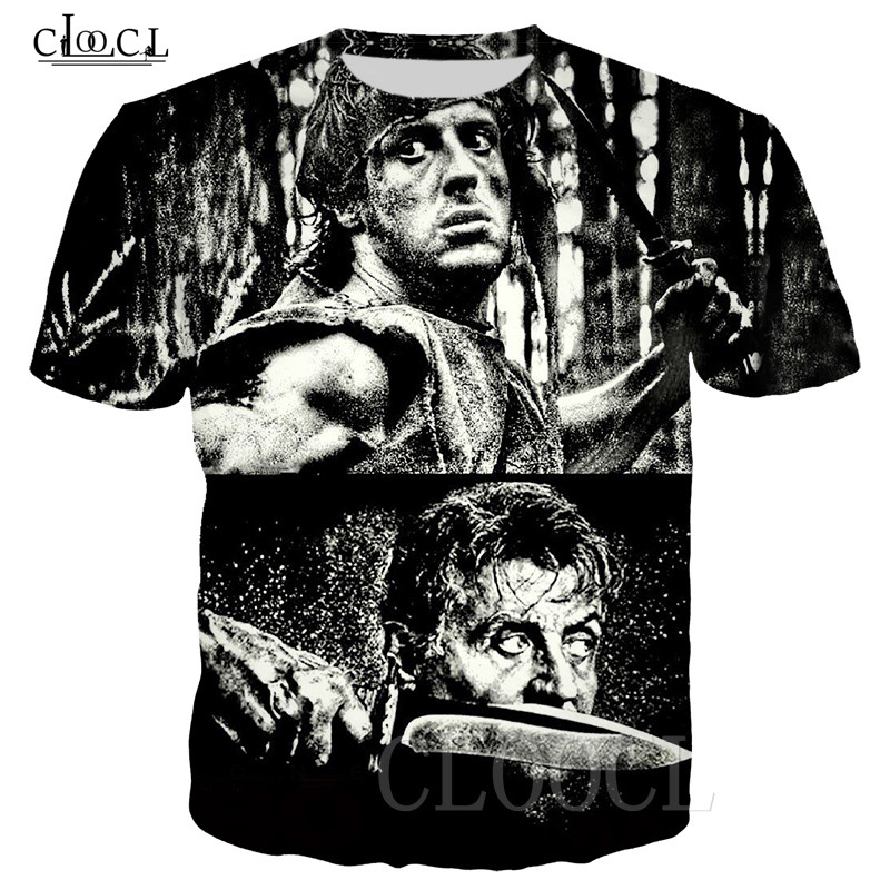 Rambo T Shirt Tees Men Women 3D Printed Last Blood Short Sleeve Cool T Shirt Sweatshirts Casual Fashion Streetwear Pullovers Top