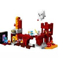 액션 피규어와 Nether 요새 빌딩 블록 호환 MinecraftINGlys 21122 내 세계 벽돌 세트 선물 완구