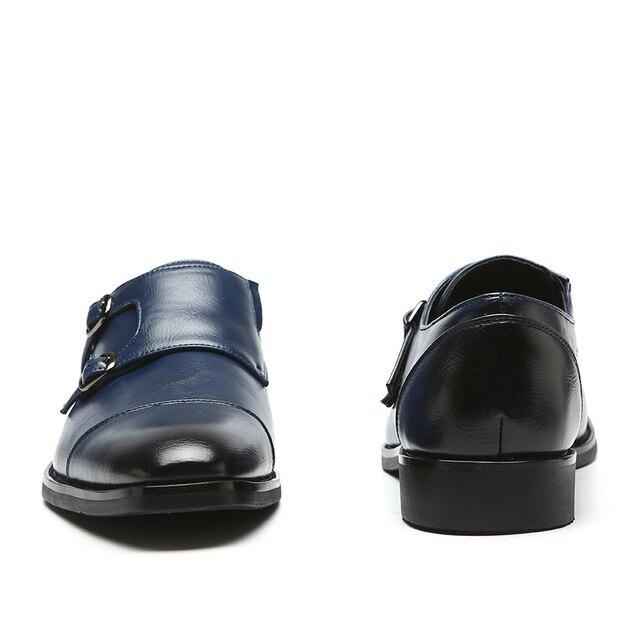 Фото новинка 2020 мужские офисные туфли деловые классические модные цена
