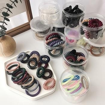 10pcs girl rubber band  headdress Headband anti-telephone line hair ring female Korean version rope accessories