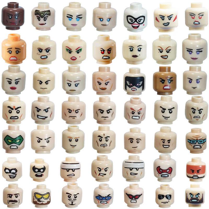 Figürü yüz kulaklık kadın veya erkek Joker MOC aksesuarları blok modeli tuğla çocuk tuğla