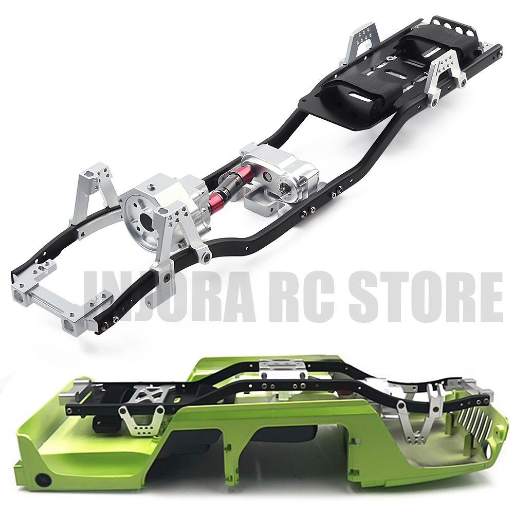 12.3inch 313mm Wheelbase Frame Chassis For 1/10 RC Rock Climbing Car Axial SCX10 & SCX10 II 90046 90047