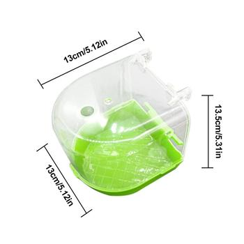 1Pcs Plastic Bird Water Bath Box Bathtub Parrot For Parakeet Lovebird Finch Pet Cage Hanging Bowl Parakeet Birdbath 5