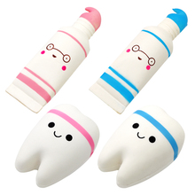 Dentist Gift Squishy-Toy Hand-Spinner Squeeze Teeth-Shape Smile Cartoon Relax Rising