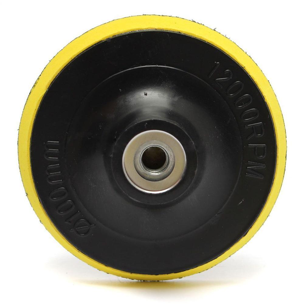 M10 M14 Backing Pad Car Polisher Bonnet Holder 34567inch Angle Grinder Wheel Sander Paper Disc Car Polishing Polisher