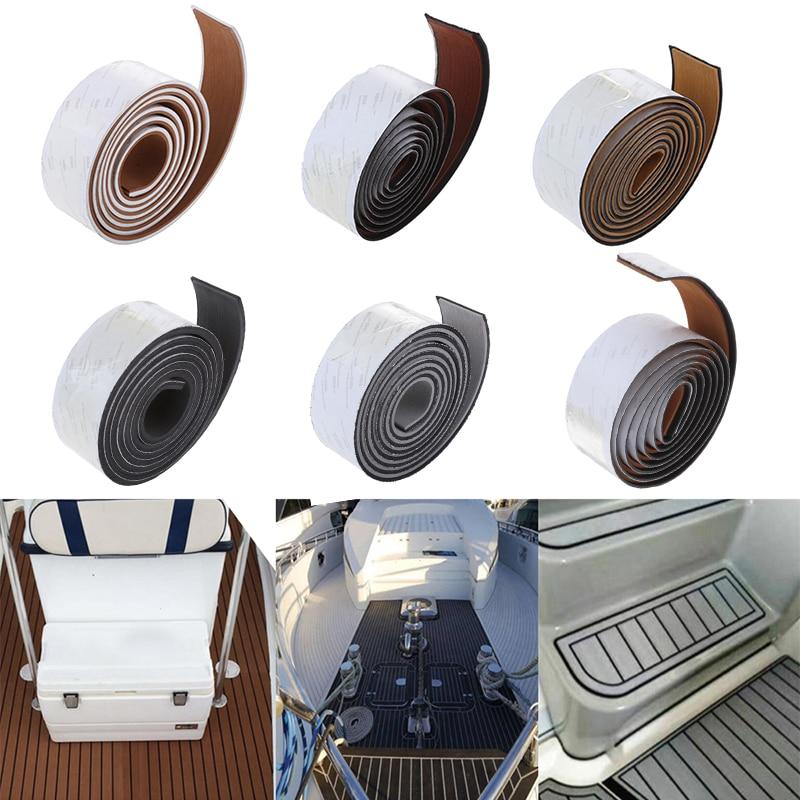 Capa de espuma auto-adesiva, 6mm, para piso em teak, para decoração de barco, iate, à prova d'água firme goma