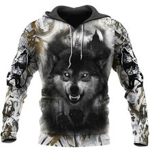 Wolf Hunting 3D Full Printed Men Hoodie Autumn and Winter Fashion Sweatshirt Casual Zipper Hoodie DY54