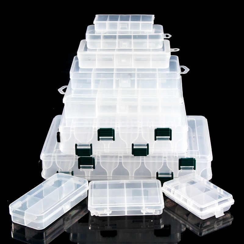 Attrezzatura da pesca scatola per wobblers palline Portatile scatole di grandi dimensioni organizzatore per esche esche ganci lunghezza 275 millimetri di larghezza 170 millimetri