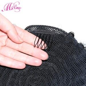 Image 5 - Афро кудрявые вьющиеся конский хвост 100% бразильские человеческие волосы на шнурке конский хвост с Clps in для женщин натуральный черный #2 #4 коричневый