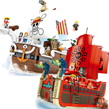 NEW ONE PIECE Thousand Going Merry Nine Snakes Pirate Ferry boat anime Building Blocks Bricks Classic Model Sets Toys